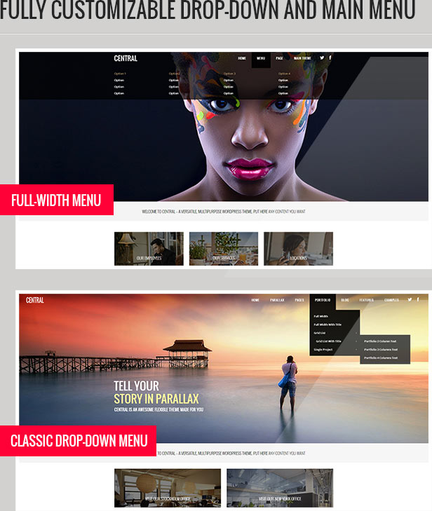Central - Versatile, Multi-Purpose WordPress Theme - 1