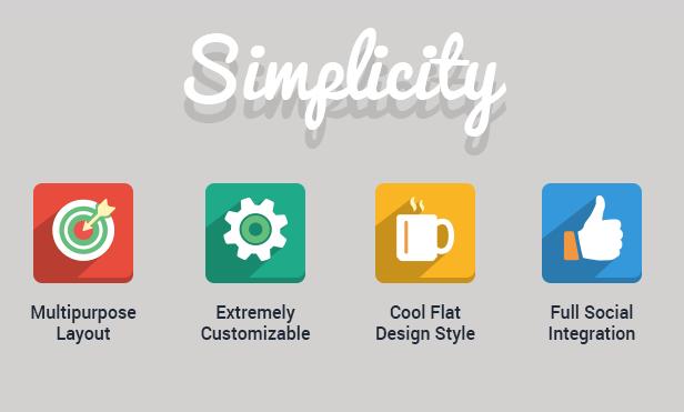 Free Simplicity - Creative Flat Retina WordPress Theme